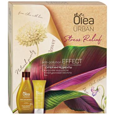 Подарочный набор Крем-гель для душа и Крем для рук увлажняющий Olea Urban Stress Relief 300 мл., картонная коробка