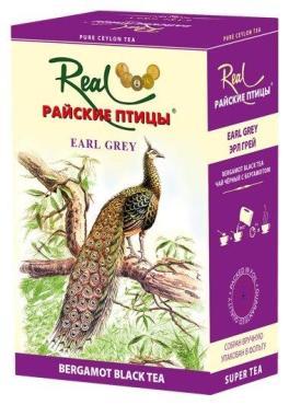 Чай черный Real Earl Grey Райские птицы, 100 гр., картонная коробка