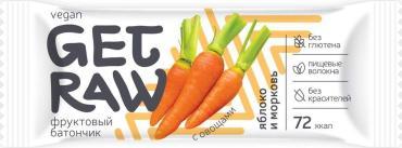 Батончик фруктовый Яблоко и морковь Get Raw, 30 гр., флоу-пак