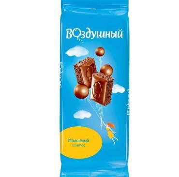 Шоколад молочный пористый , Воздушный, 85 гр., флоу-пак