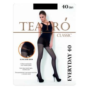 Колготки женские 40 nero, размер 2, Teatro Everyday, пластиковый пакет