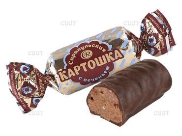 Конфеты пралиновые Сарапульская кондитерская фабрика Картошка, 1 кг.