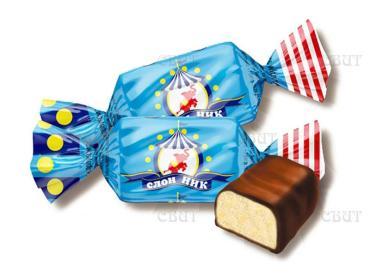 Конфеты Невский Кондитер Слон Ник, 1 кг., пластиковый пакет