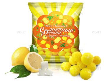 Драже со вкусом лимона Слада Солнечные россыпи, 200 гр., флоу-пак