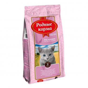 Корм сухой для котят с индейкой Родные Корма, 2,045 кг., фольгированный пакет