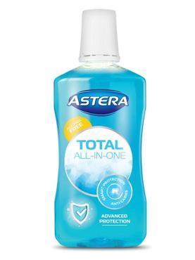Ополаскиватель Total All in one для полости рта антимикробный эффект, Болгария, Astera, 500 мл., флакон