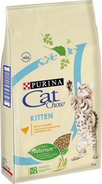 Сухой корм для котят курица Cat Chow Kitten,7 кг., пластиковый пакет
