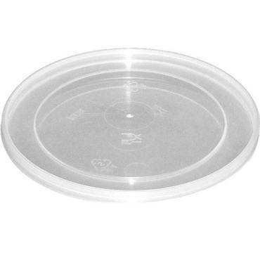 Крышка одноразовая пластиковая Перинт прессованная, мёд, d=93 мм., полупрозрачная, ПП, 1120 шт., картон