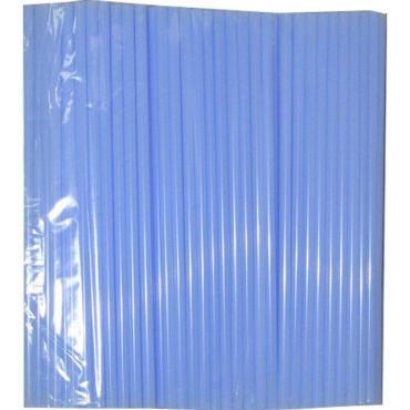 Трубочки для коктейля прямые d=61;8 мм., L=61;240 мм., голубые 250 шт/упак., 250 шт., Фарт