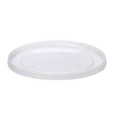 Крышка одноразовая пластиковая Перинт прессованная, мёд, круглая, d=145 мм., прозрачная, ПП, 600 шт., картон
