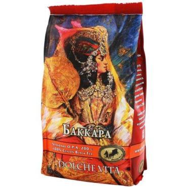 Чай черный ароматизированный, Dolche vita, Баккара 200 гр., пластиковый пакет