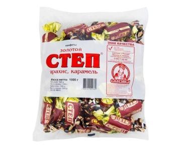 Конфеты Славянка Золотой степ,  1 кг., флоу-пак