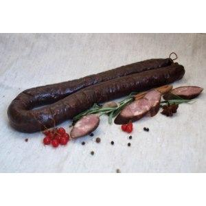 Колбаса домашняя копченая на черешне Колхоз, оболочка