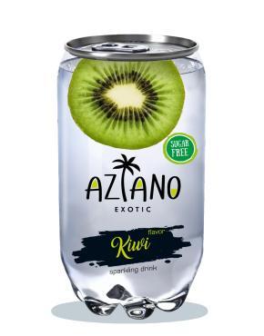 Напиток газированный, киви, Aziano, 350 мл., ПЭТ