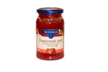 Соус томатный без искусственных добавок Rundale, 398 мл., стекло