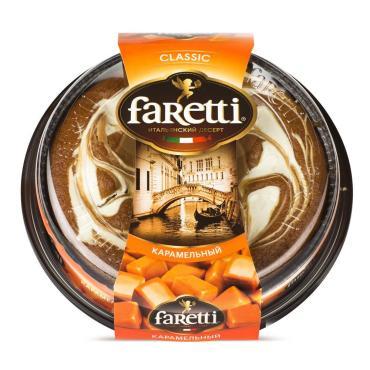 Торт итальянский десерт карамель, Faretti, 400 гр., пэт