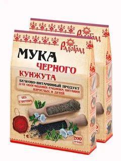 Мука кунжута черного Радоград, 200 гр., картон