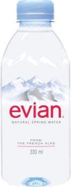 Вода минеральная, негазированная, Evian, 330 мл., ПЭТ
