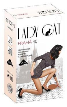 Колготки 40 den box загар 3 размер, Lady Cat Praha, картон