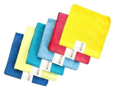 Салфетка из микрофибры универсальная 30х30 см., Голубушка, пластиковый пакет