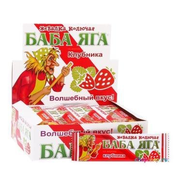 Жевательная конфета Баба Яга со вкусом клубники, 11 гр