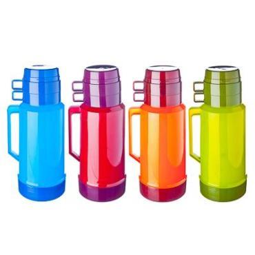 Термос стеклянная колба 1,80 л. -2 чашки, 4 цвета 4644H/4 841645, Vetta Туристический, картонная коробка