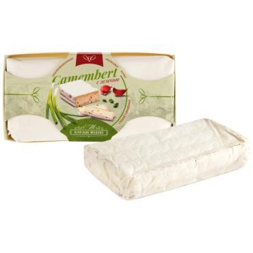Сыр мягкий с белой плесенью с зеленью камамбер Егорлык молоко, 125 гр., картон