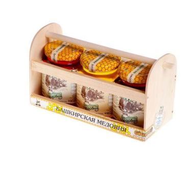 Медовый набор Башкирская медовня, 230 гр., подарочная упаковка