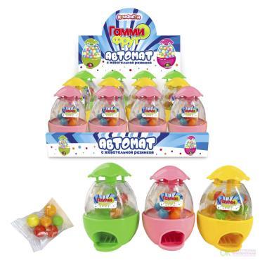Жевательная резинка Гамми фрут Автоммат-яйцо, 20 гр., пластиковая упаковка