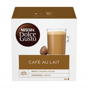 Кофе в капсулах Dolce Gusto Cafe Au Lait, NESCAFÉ, 160 гр, картон