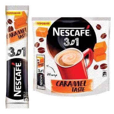 Кофе растворимый 3в1 карамель Nescafe, 14,5 гр., сашет