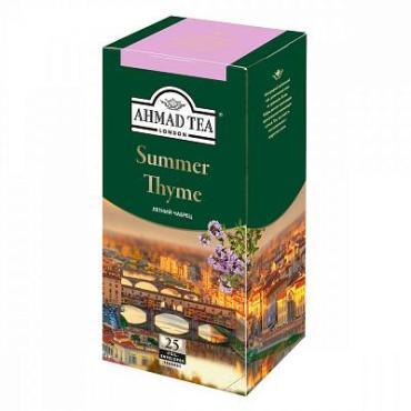 Чай, черный с чабрецом, 25 пакетиков  Summer Thyme, Ahmad, 50 гр., картон