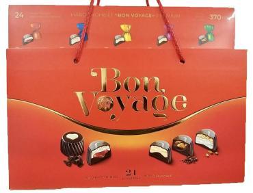 Конфеты Юниаква набор Bon Voyage premium красная, 370 гр., картон