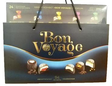 Набор конфет Bon Voyage premium синяя, Юниаква, 740 г., картон