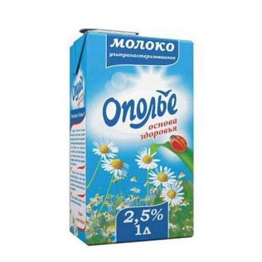 Молоко 2,5 % ультрапаст с крышкой, Ополье, 950 мл., тетра-пак
