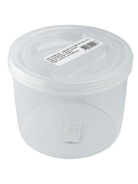 Контейнер круглый 0.42 л., Н138хD72 мм., пластик Bora