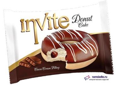 Пончики шоколадная начинка Nukka donut, 40 гр., флоу-пак