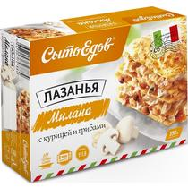 Лазанья Сытоедов Милано с курицей и грибами, 350 гр., картон