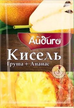 Кисель моментальный груша&ананас Айдиго 30 гр., сашет