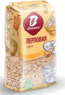Крупа ячменная перловая ароматная Воложка 800 гр., пластиковый пакет