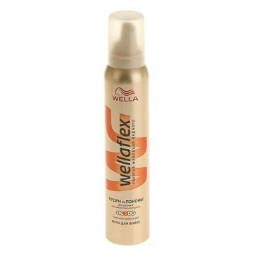 Мусс для волос Кудри и локоны сильной фиксации, Wellaflex, 200 мл., аэрозольная упаковка