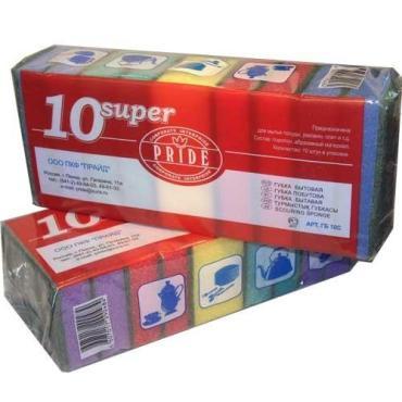 Губка для посуды Pride Super, пластиковый пакет