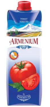 Томатный сок с солью с мякотью Армениум, 1 л., тетра-пак
