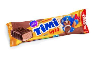 Конфеты батончик какао-нуга  TIMI, Konti, 40 гр., флоу-пак