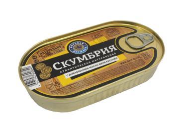 Филе Морская держава скумбрии , 175 гр, ж/б