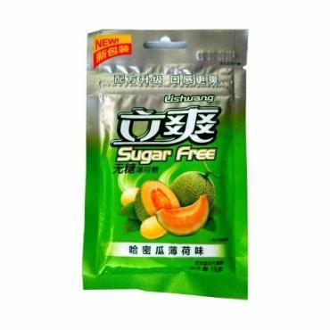 Конфеты дыня-мята Lishuang Sugar Free, 15 гр., дой-пак