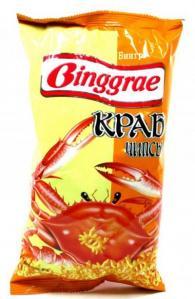 Чипсы со вкусом краба Binggrae, 80 гр., флоу-пак
