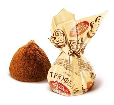 Конфеты трюфели вкус имбирно-пряничный Красный Октябрь, 3 кг.