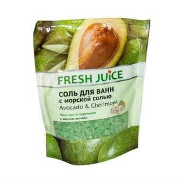 Соль для ванн Авокадо и Черимойя, Fresh Juice, 500 мл., дой-пак