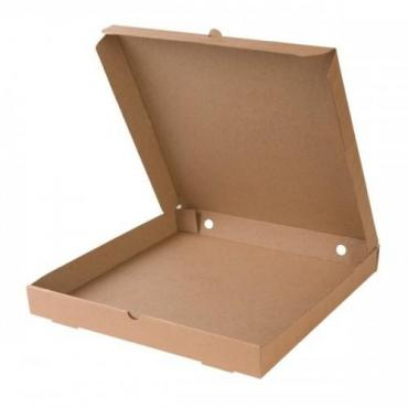 Коробка для пиццы ДхШхВ 400х400х40 мм., квадратная картон крафт ФУП